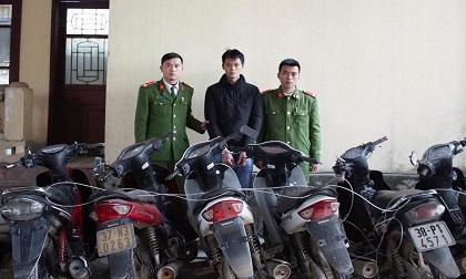 Một mình thực hiện trót lọt 16 vụ trộm xe máy tại Hà Tĩnh
