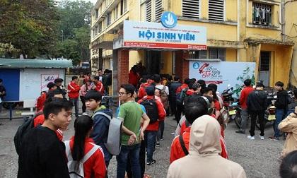 """Hà Nội: Màn hình """"khổng lồ"""" phục vụ sinh viên xem U23 Việt Nam"""