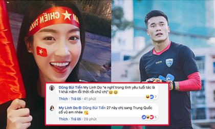 Ngó lơ dàn sao Việt hạng A, cô gái duy nhất được thủ môn Bùi Tiến Dũng 'thả thính' thuộc về hoa hậu Đỗ Mỹ Linh