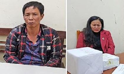 Bắt quả tang cặp vợ chồng buôn gần 2 kg ma túy đá