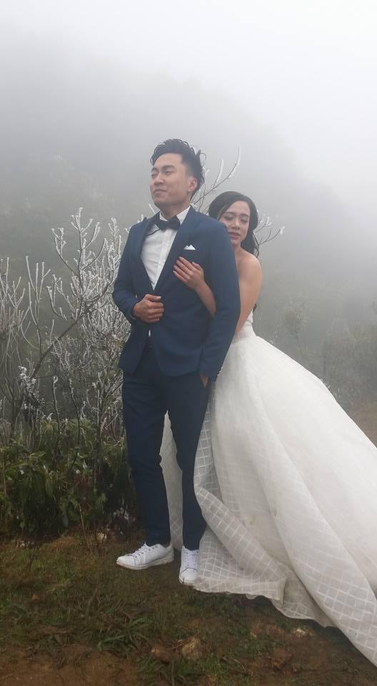 Những cô dâu vai trần thách thức thời tiết giá lạnh để có bộ ảnh cưới nghìn like - Ảnh 1.
