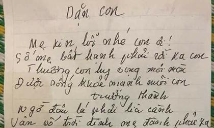 Tâm thư quặn lòng của mẹ đơn thân gửi con trai trước khi qua đời vì căn bệnh quái ác