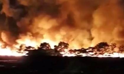 Cháy kinh hoàng ở Hải Dương