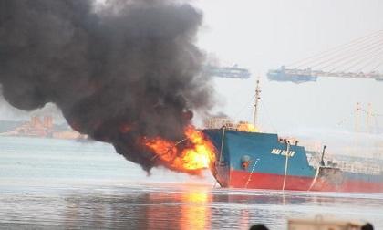 Thông tin chính thức vụ cháy tàu chở xăng dầu ở Hải Phòng