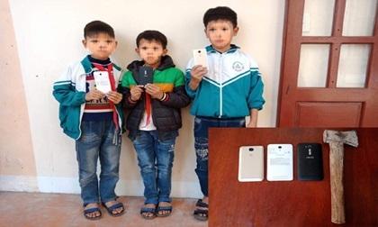 Nhóm trộm manh động phá tường trộm smartphone chỉ là 3 đứa trẻ