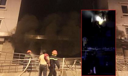 Clip: Nhiều người bị thương khi nhảy khỏi chung cư đang cháy
