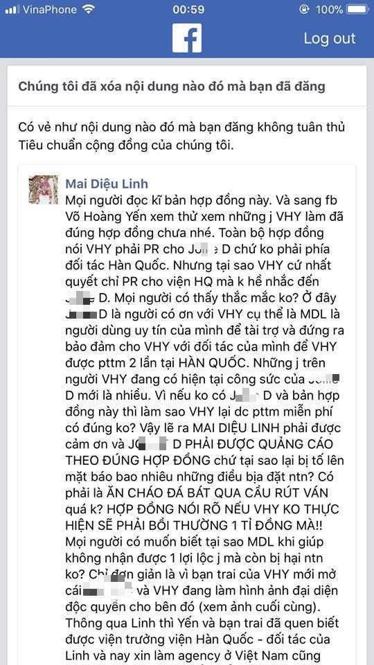 Á khôi doanh nhân Mai Diệu Linh tung bằng chứng tố Võ Hoàng Yến nói dối - Ảnh 3.