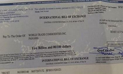 """Sự thật gây sốc về hai tờ hối phiếu trị giá hơn 5 tỷ USD của nhà """"tỷ phú Mỹ""""!?"""