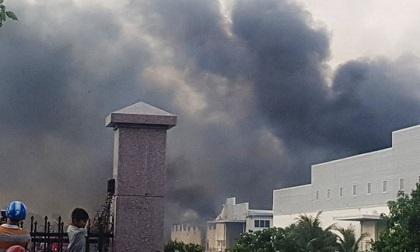 Tiền Giang: Cháy lớn ở Khu Công nghiệp Long Giang