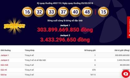 """CỰC NÓNG: Jackpot hơn 300 tỉ đồng của Vietlott chính thức """"nổ"""""""