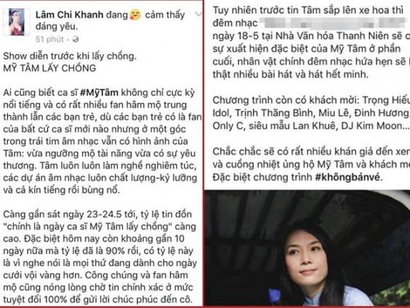 Lâm Khánh Chi gây xôn xao khi chia sẻ chuyện Mỹ Tâm sắp lấy chồng