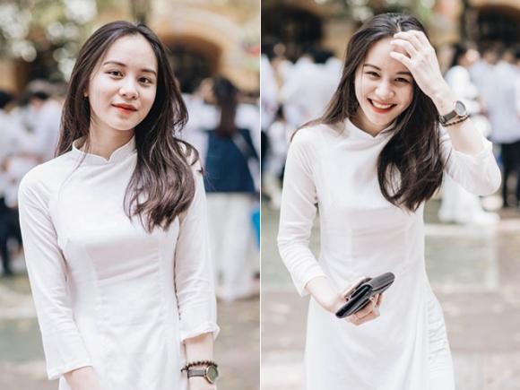 Nữ sinh Hà Nội hot nhất mùa bế giảng 2018 vì quá xinh đẹp - 1