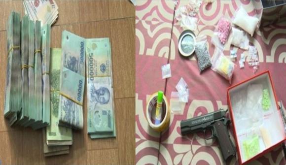 An ninh - Hình sự - Thái Bình: Bắt 'ông trùm' ma túy, thu giữ súng cùng hàng trăm triệu đồng (Hình 2).