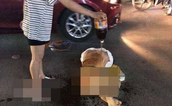 Cô gái trẻ bị đánh ghen dã man ở Thanh Hóa.