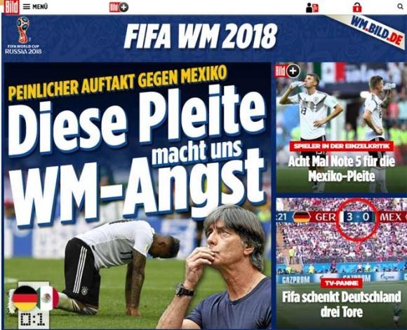 Chấn động World Cup, ĐKVĐ Đức gục ngã: Báo Đức lo loại sớm, báo Mexico mở hội - 4