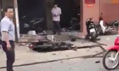 Vụ nổ tại trụ sở công an phường 12: Có 2 người đi xe máy, ném ba lô vào rồi bỏ chạy?