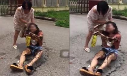 Công an mời bà bầu đánh ghen ở Thái Nguyên lên làm việc
