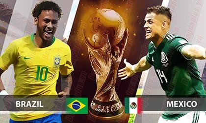 World Cup, Brazil – Mexico: 'Tí hon' mơ lật đổ Neymar, Coutinho (Vòng 1/8)