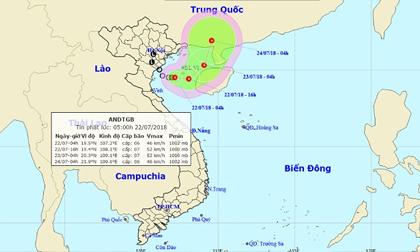 """""""Hậu duệ"""" bão số 3 mạnh thêm, Nam Định - Thanh Hóa mưa to"""