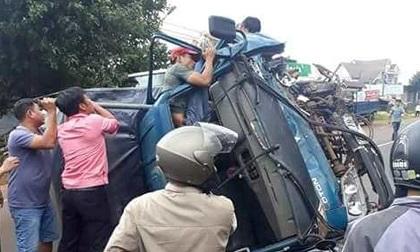 Đắk Lắk: Tai nạn liên hoàn 5 người bị thương