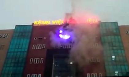 Hà Nội: Cháy biển hiệu BV Bưu Điện, nhiều bệnh nhân hoảng loạn