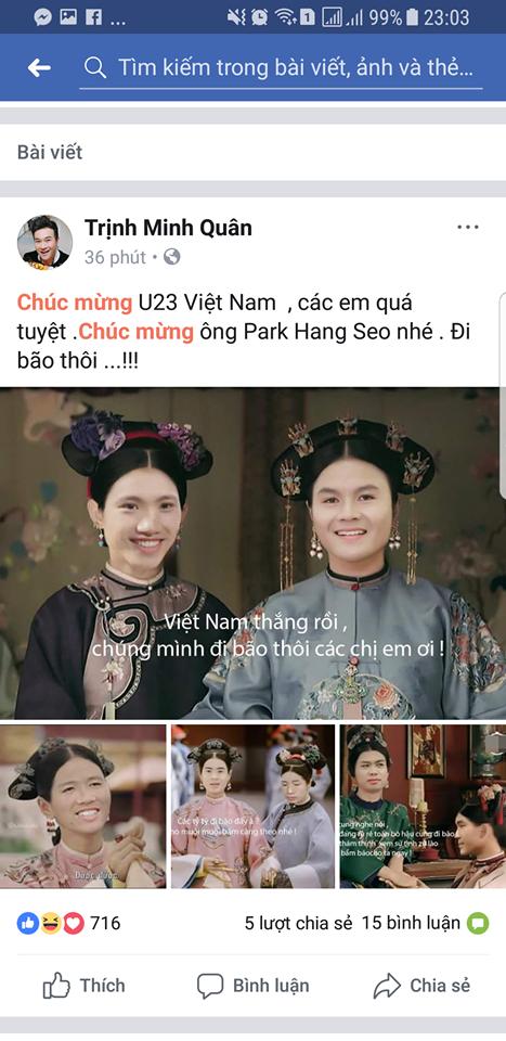 Hoài Linh, Hari Won và các sao Việt phát cuồng vì HLV Park Hang- seo - Ảnh 6.