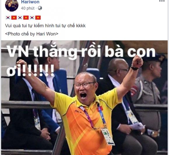Hoài Linh, Hari Won và các sao Việt phát cuồng vì HLV Park Hang- seo - Ảnh 2.