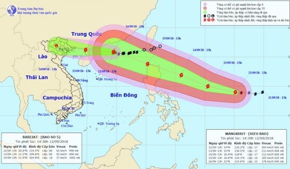 Siêu bão MANGKHUT mạnh lên cấp 17, ban hành công điện khẩn - 1