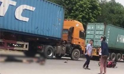 2 anh em bị container đâm thương vong trong ngày giỗ mẹ