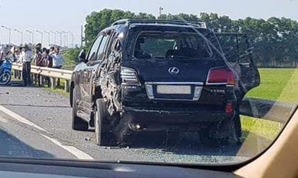 Cục CSGT thông tin về vụ xe Lexus biển 8888 bị đâm bẹp, tài xế tử vong