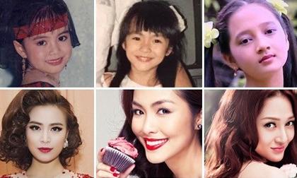 Ngay từ thời tấm bé, sao nữ Việt đã sở hữu gương mặt báo trước tương lai trở thành đại mỹ nhân