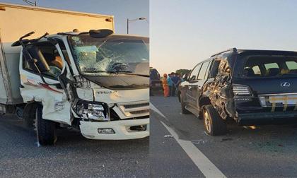 Nhân chứng kể vụ tài xế Lexus biển tứ quý 8 bị xe tải đâm tử vong khi làm việc với CSGT