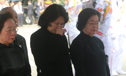 Hình ảnh bùi ngùi trong tang lễ Chủ tịch nước Trần Đại Quang