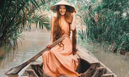 'Công chúa tóc mây' gốc Việt khiến thế giới sửng sốt vì cảnh đẹp Việt Nam