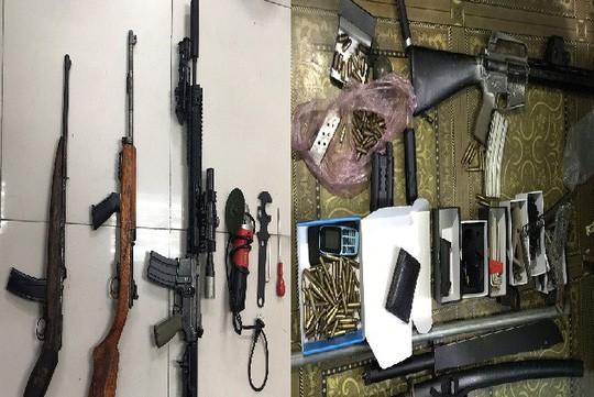 Choáng với kho vũ khí AK 47, AR 15 của 2 lái súng Quảng Ninh, Bắc Ninh