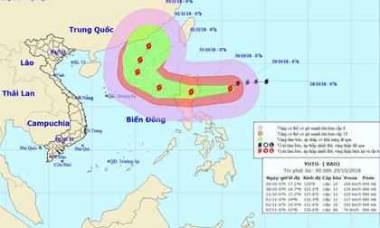 Những thống kê đáng sợ về siêu bão Yutu sắp đi vào Biển Đông