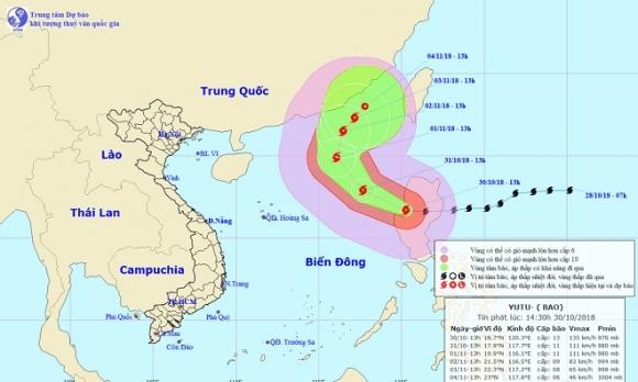 Siêu bão Yutu giật cấp 15 áp sát Biển Đông, ban hành công điện khẩn - 1