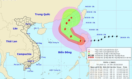 Siêu bão Yutu giật cấp 15 áp sát Biển Đông, ban hành công điện khẩn