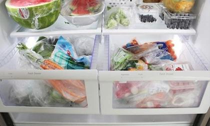 Đựng thực phẩm vào túi ni lông cho vào tủ lạnh - thói quen giết dần cả gia đình