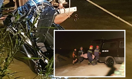 Ôtô mất lái rơi xuống sông Hồng: Tìm thấy hai thi thể, một nam và một nữ trong xe