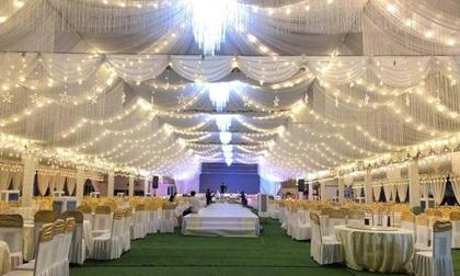 """Đám cưới """"khủng"""" ở Vĩnh Phúc xôn xao MXH, riêng tiền dựng rạp đã mất gần 1 tỷ đồng"""