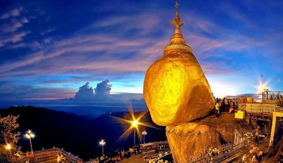 Hòn đá thiêng bằng vàng ở Myanmar và bí mật ẩn chứa bên trong - 2