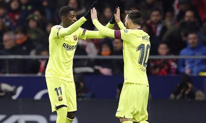 Tung đòn phút cuối, Messi giải cứu Barcelona khỏi 'cạm bẫy' Atletico Madrid