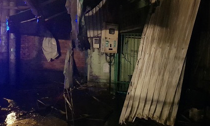 Khu nhà trọ bốc cháy giữa đêm, một nữ công nhân không kịp thoát