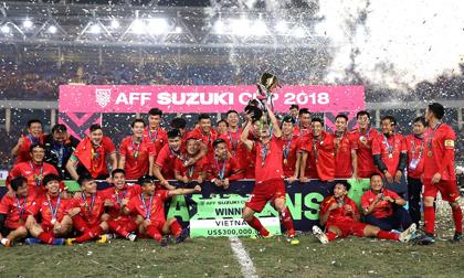 """Vô địch AFF Cup 2018, """"mưa"""" tiền thưởng dành cho đội tuyển Việt Nam"""