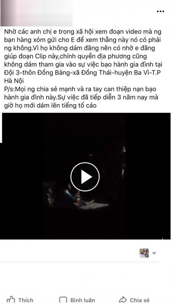 Nghi án bố bạo hành, đánh chửi con gái thậm tệ trong đêm ở Hà Nội - Ảnh 1.