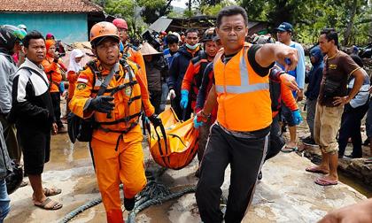 Sóng thần ở Indonesia: Số người thương vong lên đến gần 2.000