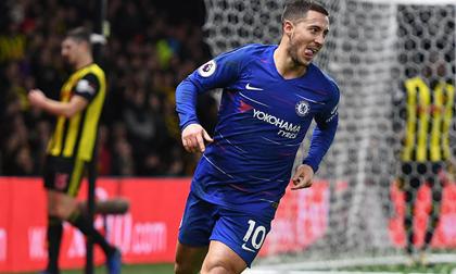Hazard chạm cột mốc lịch sử, Chelsea quay trở lại top 4