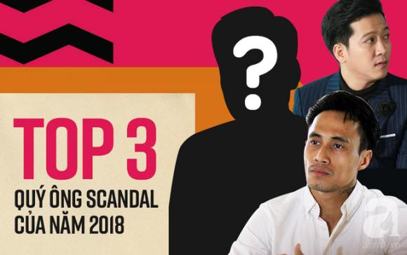 3 sao nam đoạt Cúp Quý ông Scandal của năm 2018: Trường Giang, Phạm Anh Khoa vẫn thua xa người đàn ông này - Ảnh 1.