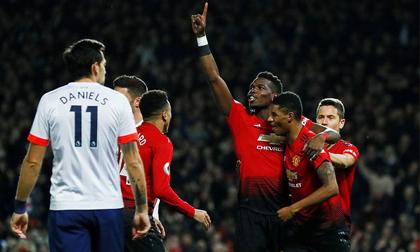 Pogba rực sáng, Lukaku tái xuất, Man United đại thắng trận thứ 3 liên tiếp